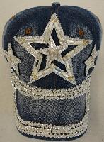 Denim Hat with Bling [Triple Stars] Silver